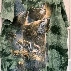Amazing Vintage wolf short sleeve shirt